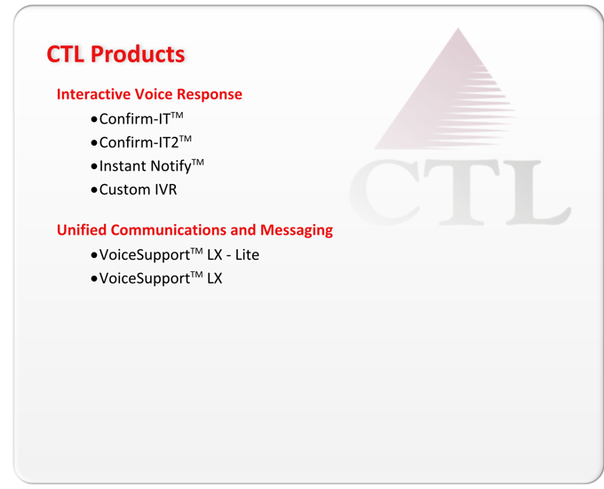 CTL Products